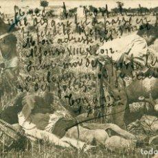 Postales: COLECCION CANOVAS SERIE S. RAPACES BEBIENDO AGUA. CIRCULADA EN 1903 A FRANCIA.. Lote 115117715