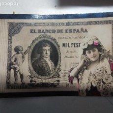 Postales: BILLETE MIL PESETAS. Lote 115141143