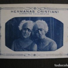 Postales: POSTAL ANTIGUA-HERMANAS CRISTIANI ACROBATAS EQUILIBRISTAS- REVERSO SIN DIVIDIR -VER FOTOS - (52.259). Lote 115513211