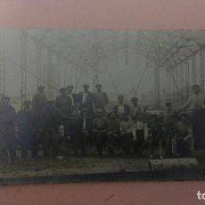 Postales: PR.- 761.- POSTAL FOTOGRAFICA DE-- CONSTRUCCION DE ESTACION DE FERROCARRIL .- ¿ LUGAR........? . Lote 116152379