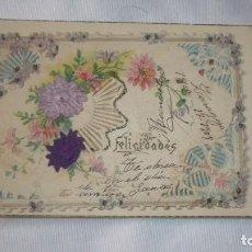 Postales: POSTAL FELICITACIÓN AÑO DEL AÑO 1909. Lote 118009375
