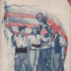 Postales: MUY BUENA POSTAL SOLIDARITAT CATALANA MATX 1906 - VISCA CATALUNYA - EDIT. VIOLA IMPRT. ELZEVIRIANA. Lote 119366671
