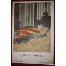 Postales: POSTAL FOTOGRAFICA VELATORIO ANGEL GUIMERA COLOREADA CON ACUARELA. Lote 114431723
