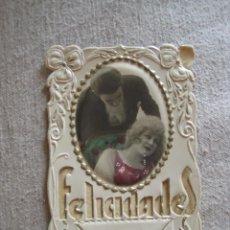 Postales: POSTALES ANTIGUAS EN RELIEVE 1914(FELICITACIONES). Lote 123120079