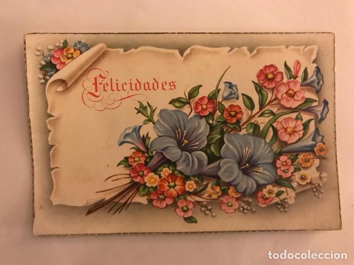 POSTAL C Y Z SERIE 582 FLORES FELICIDADES (H.1950?) (Postales - Postales Temáticas - Especiales)