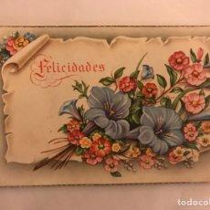 Postales: POSTAL C Y Z SERIE 582 FLORES FELICIDADES (H.1950?). Lote 124463400