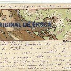 Postales: (PS-56994)POSTAL ILUSTRADA POR E.DÖCKER.ARCHIVO BARONES DE OLLER. Lote 124654499