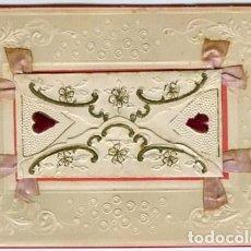 Postales: FELICIDADES. AÑO 1907. POSTAL CON LOS ADORNOS EN RELIEVE, CON UN ARTÍSTICO SOBRE EN EL CENTRO...... . Lote 127556851