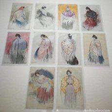 Postales: 10 POSTALES MANOLAS RAMON CASAS 1900 SERIE COMPLETA. Lote 128448879