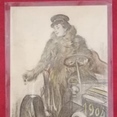 Postales: 1 POSTAL LA CHAUFFER RAMON CASAS 1904. Lote 128451327