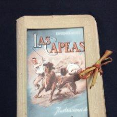Postales: CARPETA CON 12 POSTALES TAURINAS. LAS CAPEAS DE EUGENIO NOEL. LITOGRAFÍAS DE MARTINEZ DE LEON.. Lote 132835810