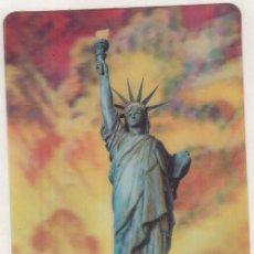 Postales: POSTAL CON MOVIMIENTO O RELIEVE GREETINGS, NEW YORK LA ESTATUA DE LA LIBERTAD.. Lote 133659734