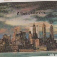 Postales: POSTAL CON MOVIMIENTO O RELIEVE GREETINGS, NEW YORK MANHATTAN. Lote 133660498