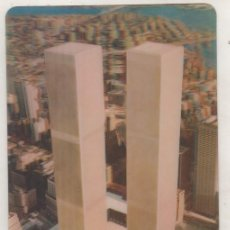 Postales: POSTAL CON MOVIMIENTO O RELIEVE GREETINGS, NEW YORK WORLD TRADE CENTER. TORRES GEMELAS.. Lote 133660622
