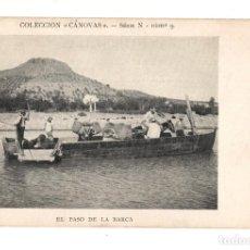 Postales: EL PASO DE LA BARCA . COLECCION CANOVAS SERIE N - 9. Lote 134836870