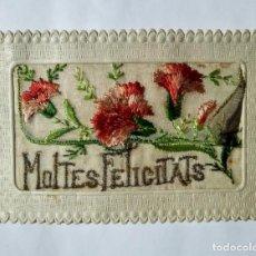 Postales: POSTAL BORDADA MOLTES FELICITATS 1927. Lote 135141966