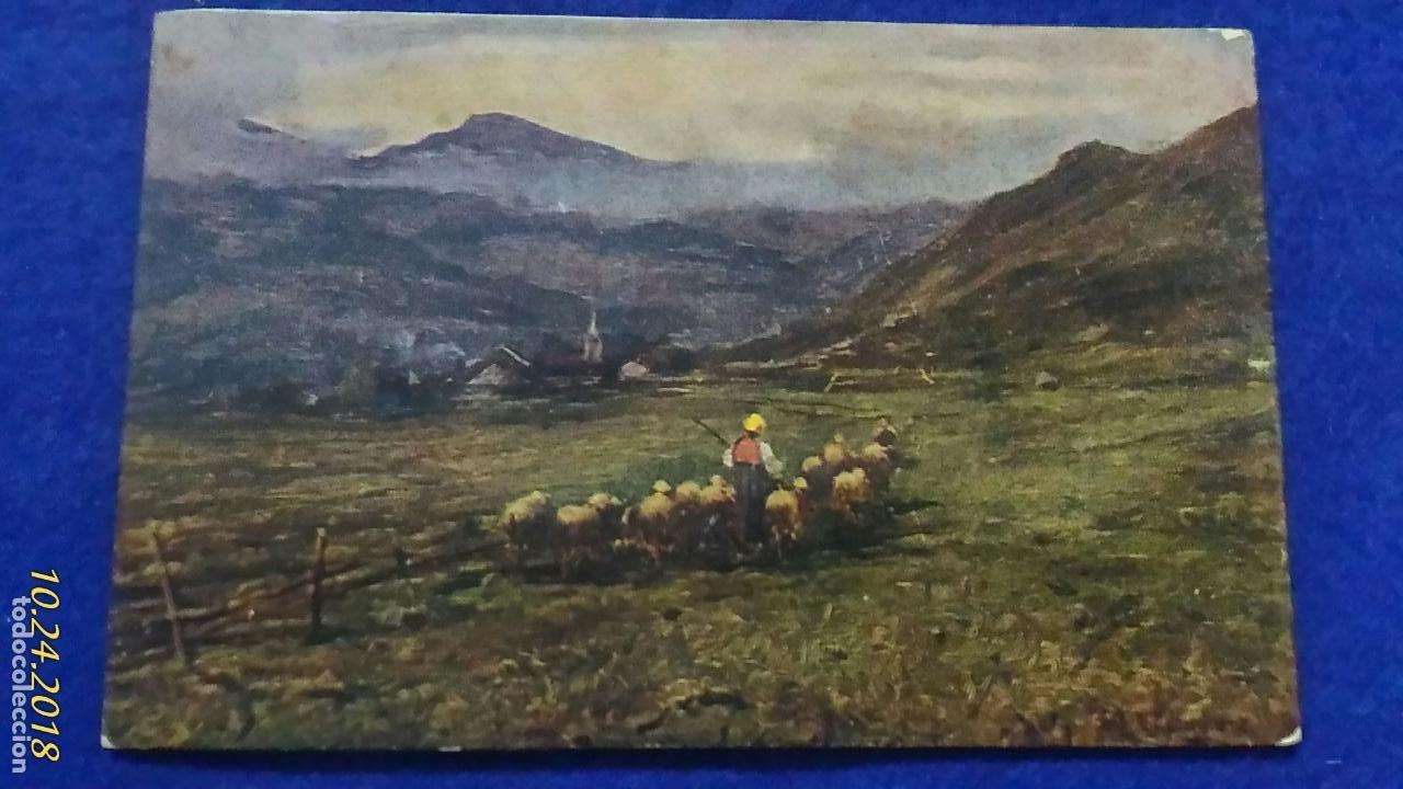POSTAL PAISAJE. ART RISER. ESCRITA 1938. (Postales - Postales Temáticas - Especiales)