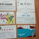 Postales: ANTIGUAS TARJETAS POSTALES RADIOAFICIONADO AÑOS 70/80. Lote 140370446