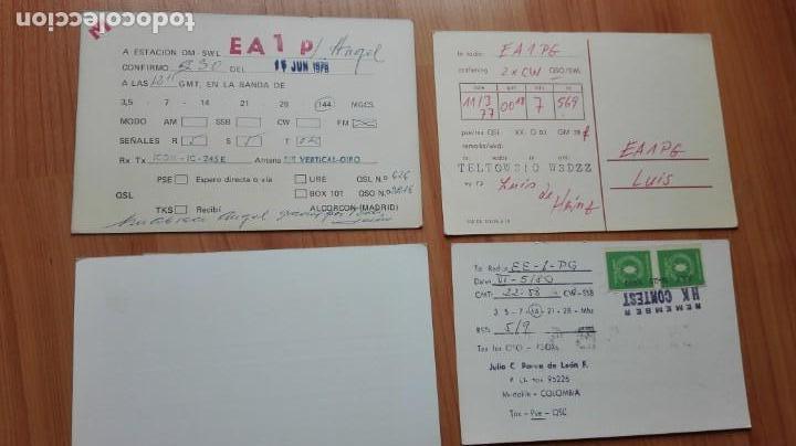Postales: antiguas tarjetas postales radioaficionado años 70/80 - Foto 2 - 140373054