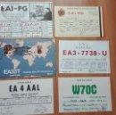 Postales: ANTIGUAS TARJETAS POSTALES RADIOAFICIONADO AÑOS 70/80. Lote 140373358