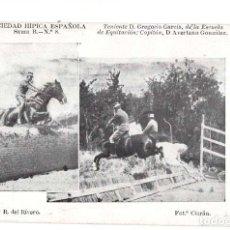 Postales: SOCIEDAD HIPICA ESPAÑOLA. TENIENTE. D. GREGORIO GARCIA. ESCUELA DE EQUITACIÓN. FOT. CIARÁN. Lote 140869738