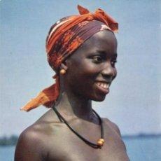 Postales: LOTE 2 POSTALES -JOVENES DESNUDAS -AFRICA. Lote 140888874