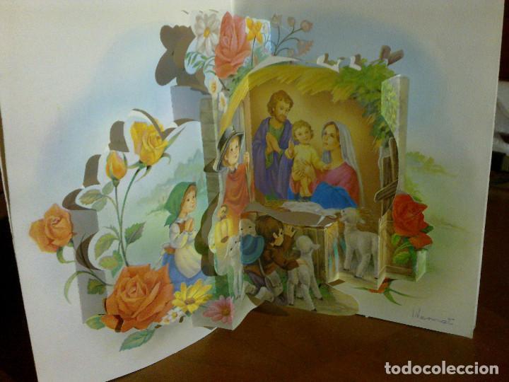 I. VERNET - POSTAL TROQUELADA 3D - NACIMIENTO BELÉN NAVIDEÑO (Postales - Postales Temáticas - Especiales)