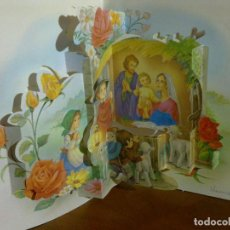Postales: I. VERNET - POSTAL TROQUELADA 3D - NACIMIENTO BELÉN NAVIDEÑO. Lote 141333698