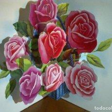 Postales: POSTAL TROQUELADA 3D - FLORES. Lote 141334534