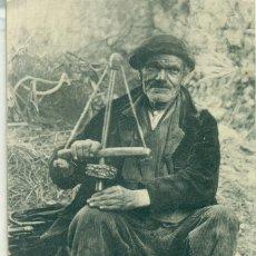 Postales: ESTAÑADOR Y PARAGÜERO ESPAÑOL. POSTAL FRANCESA CIRCULADA EN 1910. MUY RARA.. Lote 142155738