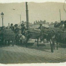 Postales: MERCADERES ESPAÑOLES EN LYON VENDEDORES DE CERÁMICA. 1913. PUEDEN SER MURCIANOS.FOTOGRÁFICA.. Lote 142156414