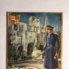 Postales: EL SERENO (BARCELONA) LES DESEA FELICES PASCUAS Y PRÓSPERO AÑO NUEVO... (H.1950?). Lote 143219269