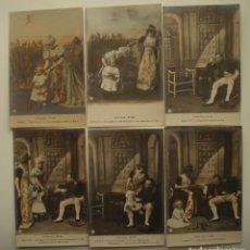 Postales: NAPOLEÓN INTIME. LOTE DE 10 POSTALES COLOREADAS. COLECCIÓN COMPLETA. EDITOR HENRI MANUEL.. Lote 143243962