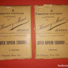 Postales: LOTE DE 20 POSTALES QUIEN SUPIERA ESCRIBIR CAMPOAMOR HAUSER Y MENET. Lote 144588330