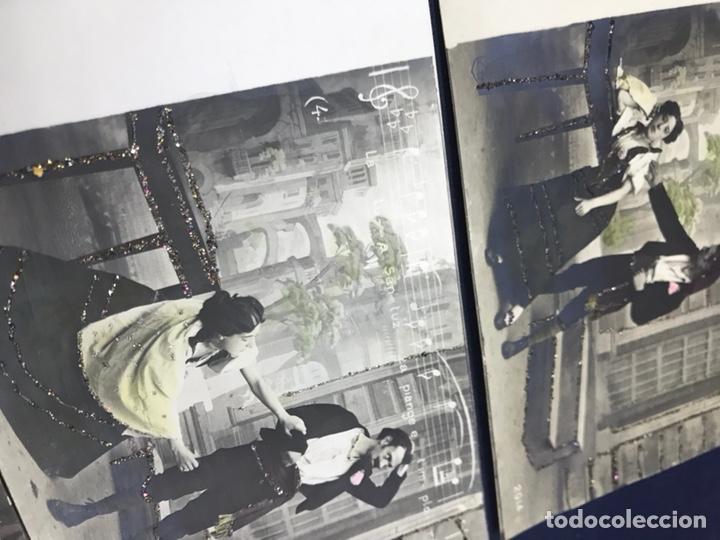 Postales: SERIE COMPLETA 10 POSTALES OPERA CAVALLERIA RUSTICANA. SIN DIVIDIR. PINTADAS CON PURPURINA. NOTACIÓN - Foto 3 - 147517006