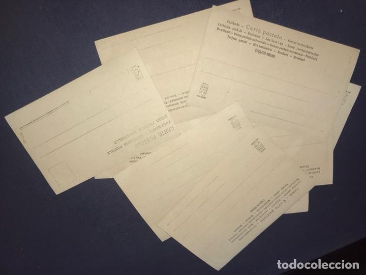 Postales: SERIE COMPLETA 10 POSTALES OPERA CAVALLERIA RUSTICANA. SIN DIVIDIR. PINTADAS CON PURPURINA. NOTACIÓN - Foto 6 - 147517006