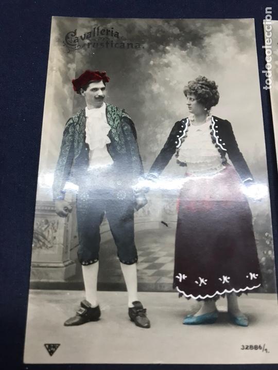 Postales: SERIE COMPLETA 6 POSTALES OPERA CAVALLERIA RUSTICANA. PINTADAS. SIN CIRCULAR - Foto 2 - 147517330