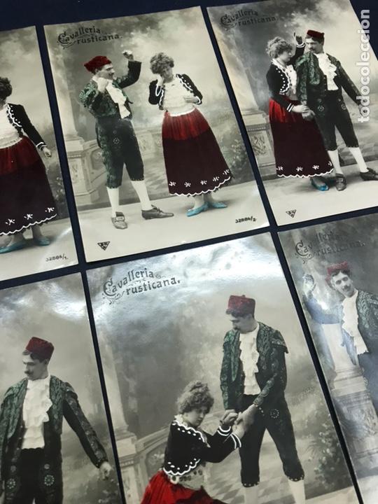 Postales: SERIE COMPLETA 6 POSTALES OPERA CAVALLERIA RUSTICANA. PINTADAS. SIN CIRCULAR - Foto 3 - 147517330