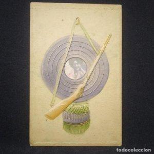 Antigua y rara tarjeta postal en relieve