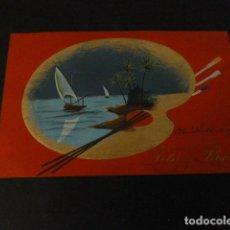 Postales: PALETA DE PINTOR CON PAISAJE PINTADO A MANO POSTAL. Lote 148006458