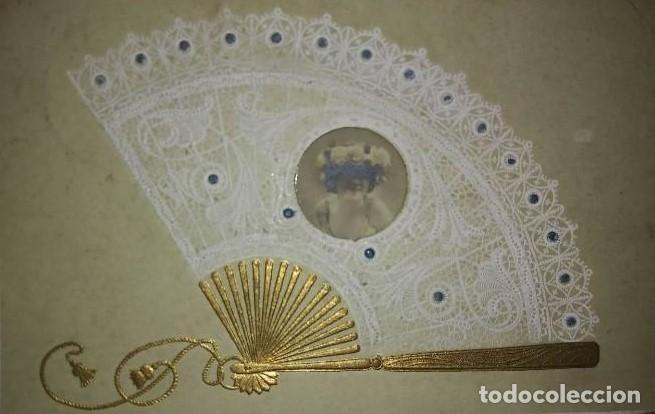 POSTAL ÉPOCA RELIEVE 1906 ABANICO (Postales - Postales Temáticas - Especiales)