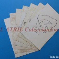 Postales: 7 ANTIGUAS POSTALES ILUSTRADAS POR BAGARIA - RICHARD WAGNER, HENRIK IBSEN, ANGEL GUIMERA, E. BORRAS. Lote 149360418