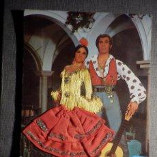 Postales: POSTAL BORDADA - FLAMENCA - EDICIONES FOTO ANTONIO - ESCRITA -. Lote 149904866
