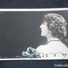 Postales: POSTAL ARTISTA LA BELLA OTERO. CON RELIVE. AÑO 1903. TEATRO. ACTRIZ. CUPLETISTA.. Lote 150518378