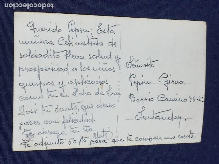 Postales: MUÑECA CELI POSTAL MARINERA BANDRAS UNIFORME BLANCO Y NEGRO AÑOS 50 - Foto 2 - 150558542
