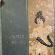 Postales: PRECIOSO ALBUM PARA TARJETAS POSTALES VACIO ESTÉTICA MODERNISTA ART NOVEAU. Lote 151285214