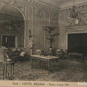 París. Hotel Régina. salon Louis XV