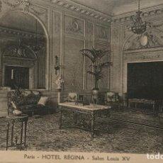Postales: PARÍS. HOTEL RÉGINA. SALON LOUIS XV. Lote 151992858