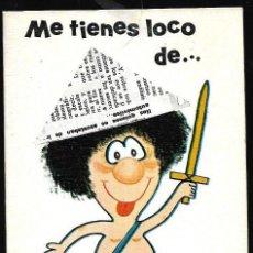 Postales: FELICITACION TROQUELADA PRESTEL* ME TIENES LOCO DE ATAR.... * 1971. Lote 154017902