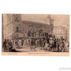 Postales: GALVEZ PLOCLAMACIÓN DE CARLOS IV. COLECCIÓN LÁZARO.. Lote 154252034